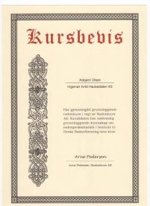 Kursbevis for Asbjørn Olsen i grunnleggende radonkurs 218x300 Sertifiseringer